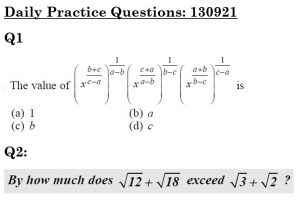Daily Practice Questions
